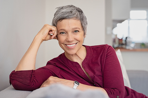 smiling woman at Rai Oral Surgery & Dental Implants